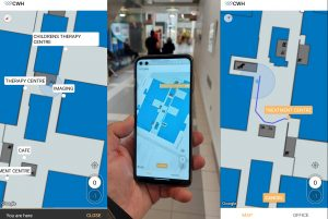 The BuzzStreets system brings outdoor navigation inside.